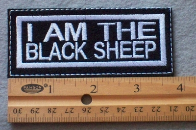 879 L - I Am The Black Sheep Embroidered Patch