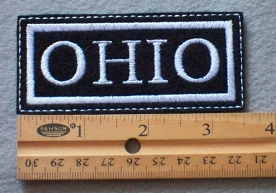 914 L -OHIO Embroidered Patch