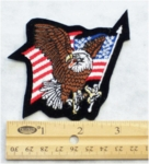 581 R - EAGLE AND FLAG PATCH