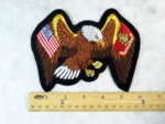 1136 R - EAGLE WITH USA AND USMC FLAG WINGS PATCH