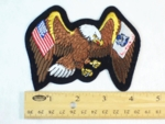 1180 R - EAGLE WITH USA AND ARMY FLAG WINGS PATCH