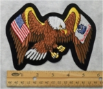 1134 R - EAGLE WITH USA AND ARMY FLAG WINGS PATCH