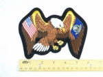 585 R  - EAGLE WITH USA AND NAVY FLAG WINGS PATCH