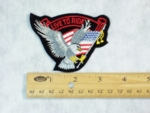 14 B - LIVE TO RIDE EAGLE WITH FLAG - EMBROIDERY PATCH