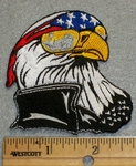 1539 N - Eagle Wearing American Flag Bandana - Embroidery Patch