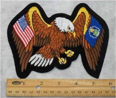 587 R - EAGLE WITH USA AND USAF FLAG WINGS PATCH