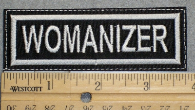 1497 L - Womanizer - Embroidery Patch