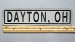 "681 L - DAYTON, OH HIGHLY REFLECTIVE 11"" PATCH - Embroidery Patch"