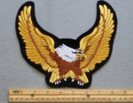 609 B - METALLIC GOLDEN EAGLE PATCH