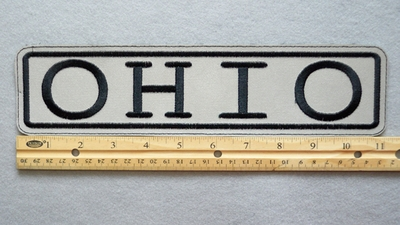 "277 L - OHIO HIGHLY REFLECTIVE 11"" PATCH - Embroidery Patch"