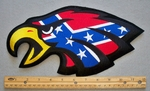 622 R - Confederate Flag Eagle Face - Back Patch - Embroidery Patch