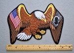 648 R - EAGLE WITH USA AND POW WINGS PATCH - FREE SHIPPING!