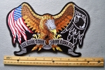 801 G -All Gave Some Some Gave All Eagle Embroidered Patch