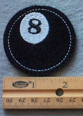 850 L - Cue Ball Embroidered Patch