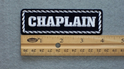 576 L - CHAPLAIN PATCH - Embroidery Patch