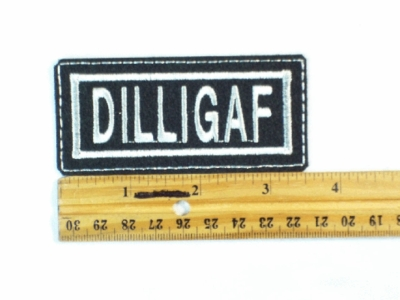 76 L - DILLIGAF - EMBROIDERY PATCH