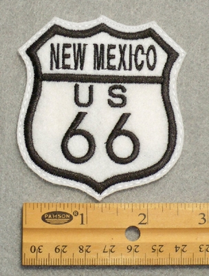 749 L - New Mexico Route 66 Sign Embroidered Patch