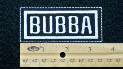 87 L - BUBBA - EMBROIDERY PATCH