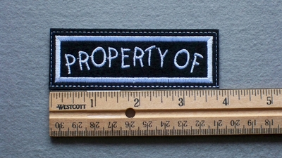 1087 L - Property Of -  Embroidery Patch