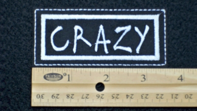 88 L - CRAZY - EMBROIDERY PATCH