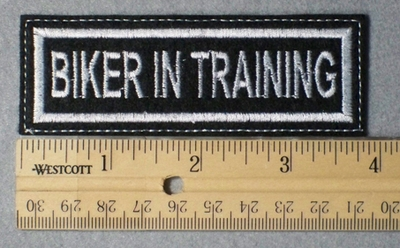 948 L - Biker In Training -  Embroidery Patch