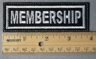 958 L - Membership -  Embroidery Patch