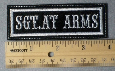962 L - Sgt. At Arms -  Embroidery Patch