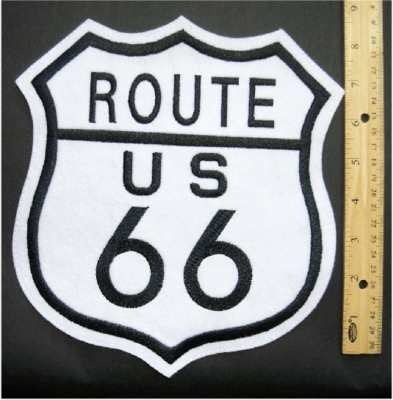 267 L - ROUTE 66 BACK PATCH - FREE SHIPPING!
