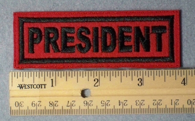 974 L - President - Red -  Embroidery Patch