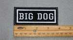 137 L - BIG DOG - EMBROIDERY PATCH - WHITE