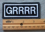 865 L - GRRRR Embroidered Patch