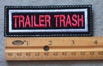 929 L - Trailer Trash Embroidered Patch