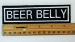 55 L - BEER BELLY - Embroidery  Patch
