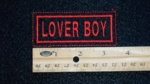 110 L - LOVER BOY - EMBROIDERY PATCH - RED