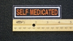 111 L - SELF MEDICATED - EMBROIDERY PATCH - ORANGE