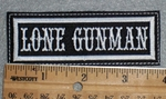 1651 L - Lone Gunman - Embroidery Patch