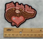 316 G - LITTLE LADY RIDER - EMBROIDERY PATCH