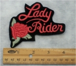 317 B - LADY RIDER - EMBROIDERY PATCH