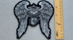 325 G - ENGINE WITH ANGEL WINGS- EMBROIDERY PATCH