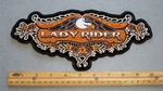 334 G - LADY RIDER LARGE EAGLE - EMBROIDERY PATCH - FREE SHIPPING!
