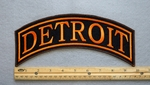 DETROIT TOP ROCKER - EMBROIDERY PATCH - ORANGE - FRE SHIPPING!