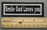 691 L - Smile God Loves You - Embroidery Patch