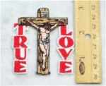 669 N- TRUE LOVE - Jesus On Cross - Embroidery Patch