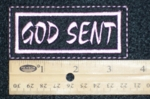 596 L - GOD SENT PATCH - PINK