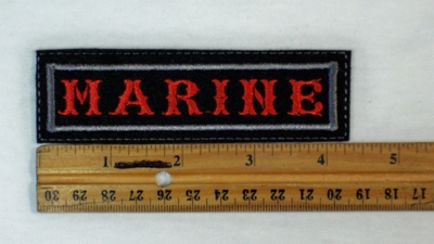 600 L - MARINE PATCH - Embroidery Patch