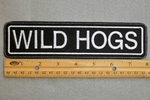 "404 L - WILD HOGS 8"" - EMBROIDERY PATCH - WHITE - FREE SHIPPING!"