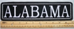 "470 L - 11"" ALABAMA - EMBROIDERY PATCH - GRAY - FREE SHIPPING!"