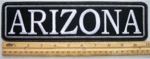 "472 L - 11"" ARIZONA - EMBROIDERY PATCH - GRAY - FREE SHIPPING!"
