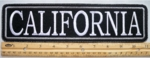 "474 L - 11"" CALIFORNIA - EMBROIDERY PATCH - GRAY - FREE SHIPPING!"