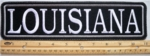 "485 L - 11"" LOUISIANA - EMBROIDERY PATCH - GRAY - FREE SHIPPING!"